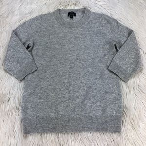 J.Crew Cashmere 3/4 Sleeve Crew Pull Over Sweater